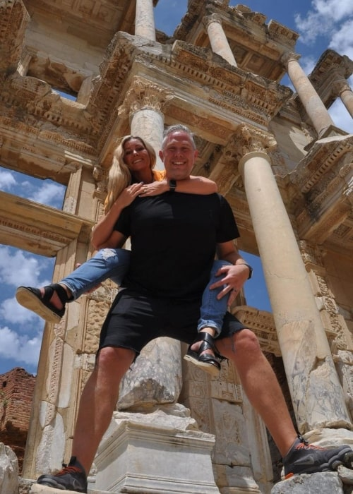 Michelle Shumway as seen in a picture that was taken with her beau Khyl Shumway in Ephesus, Turkey in May 2021