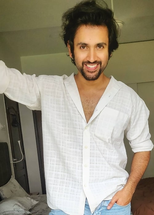 Mishkat Varma as seen while smiling for the camera in July 2020