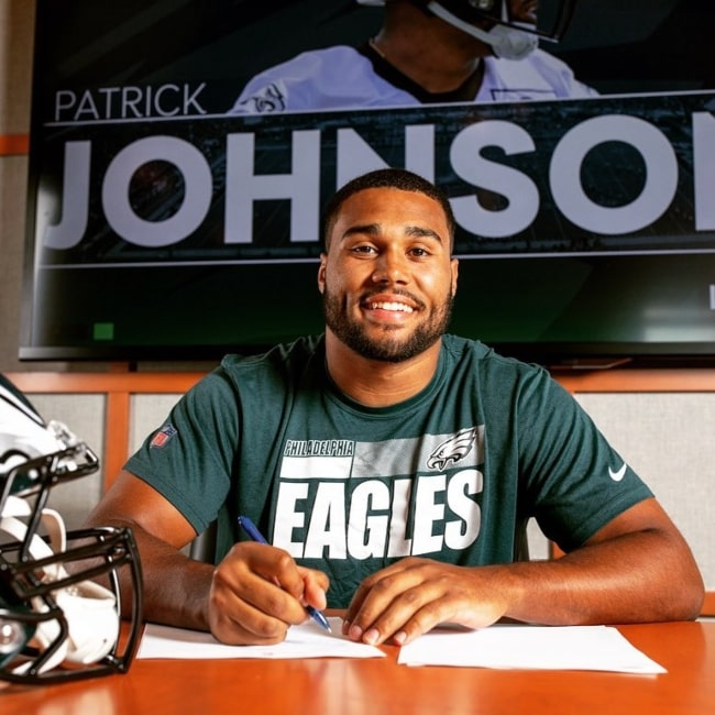 Patrick Johnson as seen in a picture that was taken at the Lincoln Financial Field in June 2021