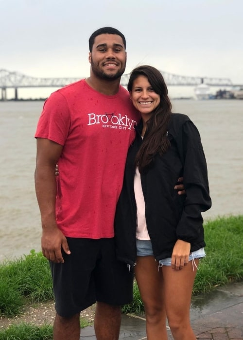 Patrick Johnson as seen in a picture that was taken with his wife Gabriella Becerra in December 2019