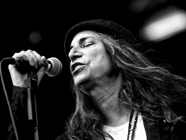 Patti Smith as seen while performing at Provinssirock festival in Seinäjoki, Finland in June 2007