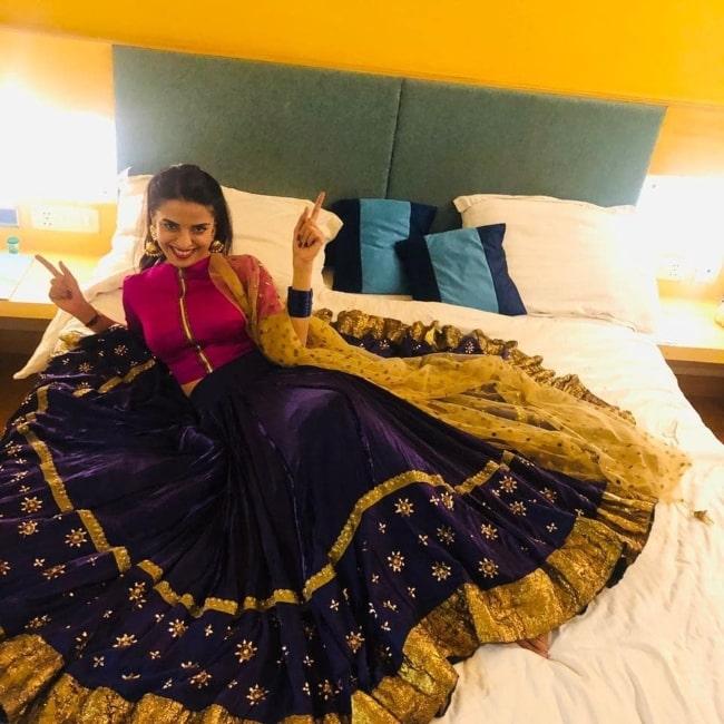 Pooja Sharma all smiles in January 2019