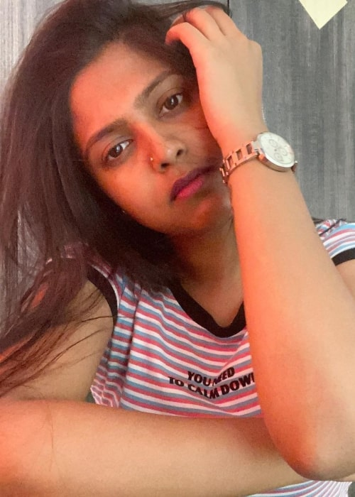 Praneeta Patnaik as seen in a selfie that was taken in May 2020