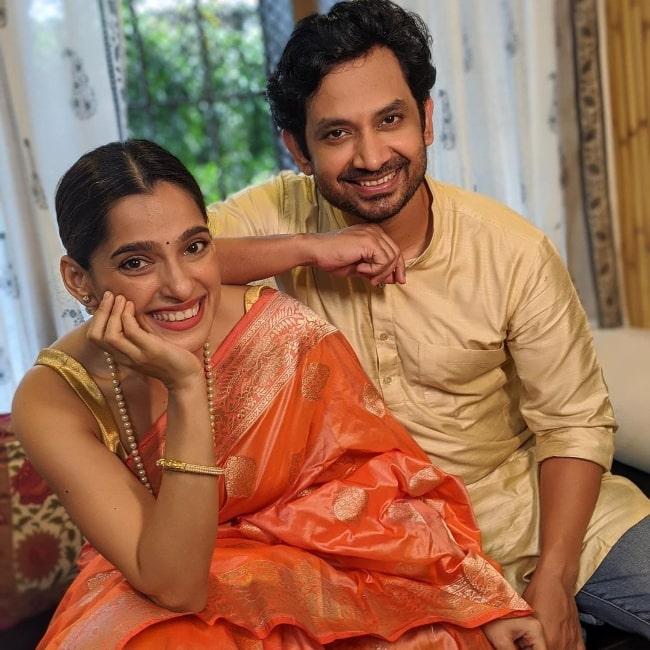 Priya Bapat and Umesh Kamat in an Instagram post in September 2021