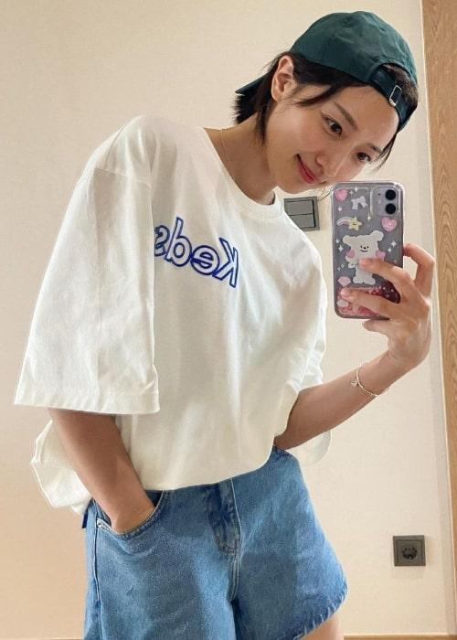 Pyo Ye-jin as seen while taking a mirror selfie in July 2021