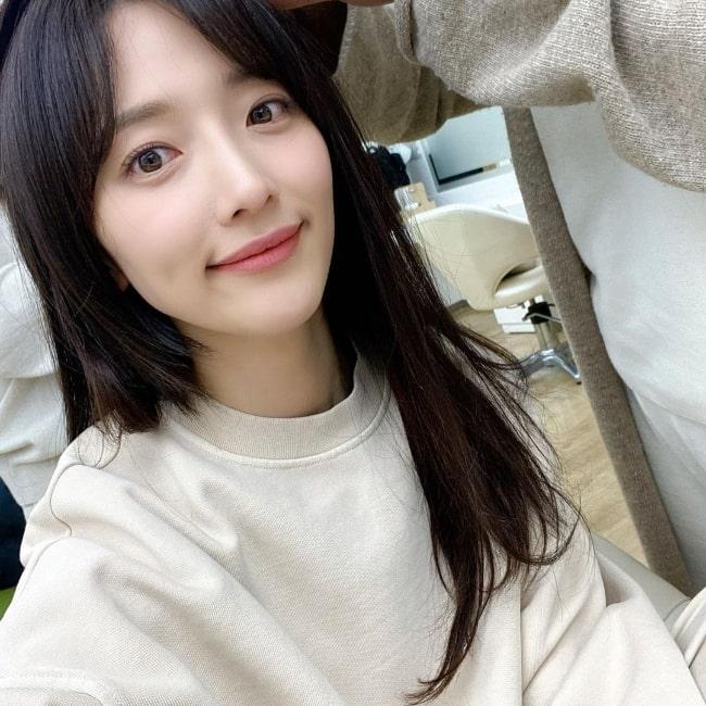 Pyo Ye-jin smiling in a selfie in May 2021