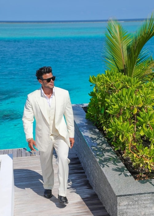 Sahil Khan in Maldives in 2021