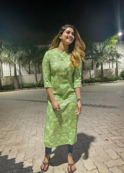 Shivani Narayanan as seen in August 2021