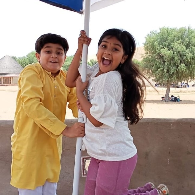 Shreya Patel as seen in a picture that was taken with fellow child actor Chirag Kukreja in August 2021