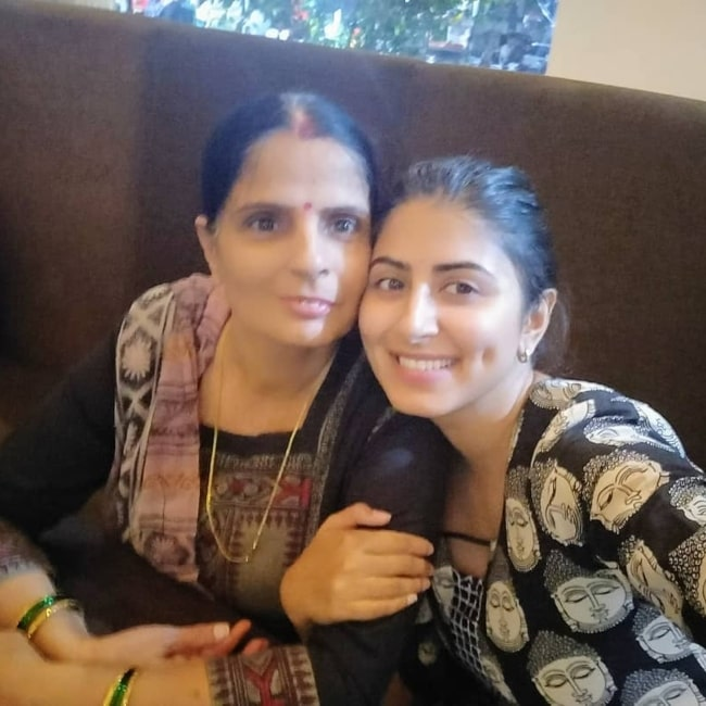 Shweta Avasthi as seen in a selfie with her mother that was taken in March 2018