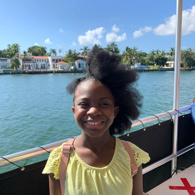 Skye Dakota Turner smiling for the camera in Miami Beach, Florida in November 2020
