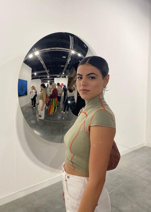 Sofia Villarroel as seen in a picture that was taken at Art Basel Miami Beach in December 2019