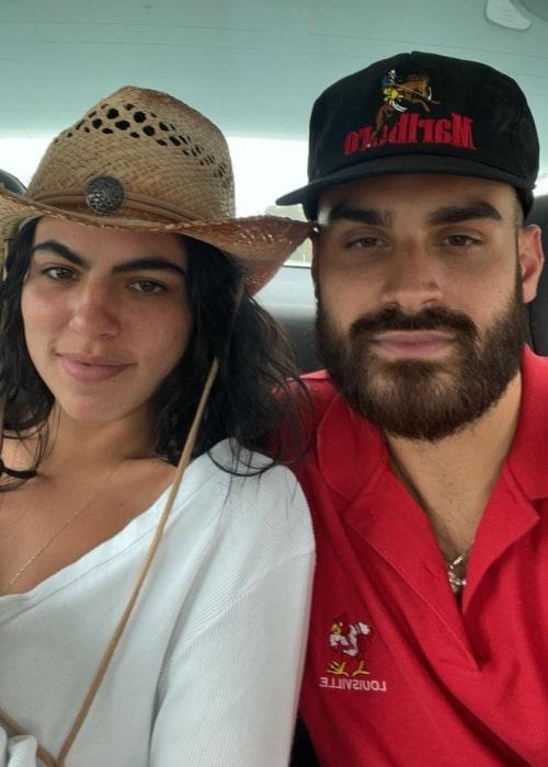 Sofia Villarroel as seen in a selfie that was taken with her beau Edwin Roman in June 2021