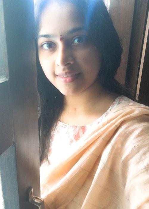 Sri Divya as seen in a selfie that was taken in April 2020