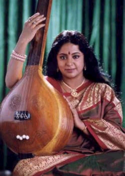 Srividya as seen in a picture that was taken in the past