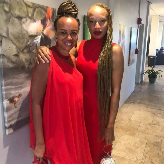 Stacey McKenzie as seen in a picture that was taken with Sandi Bass in November 2020