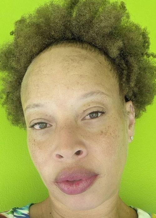 Stacey McKenzie as seen in a selfie that was taken in August 2021