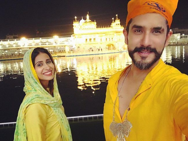 Suyyash and Kishwer seen visiting the Golden Temple in 2020