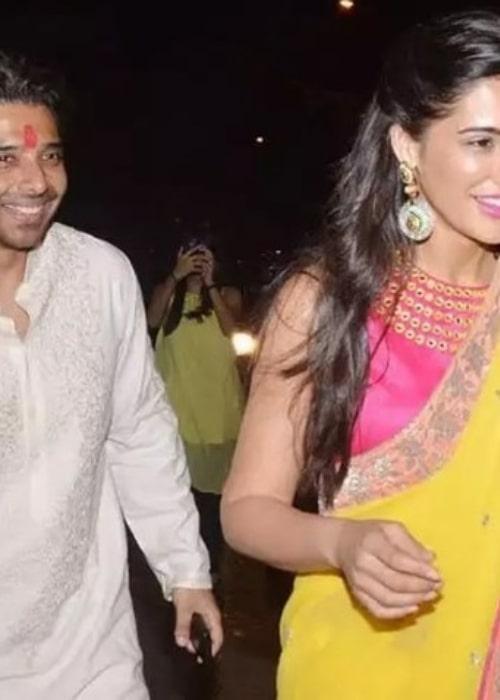 Uday Chopra and Nargis Fakhri, as seen in September 2017