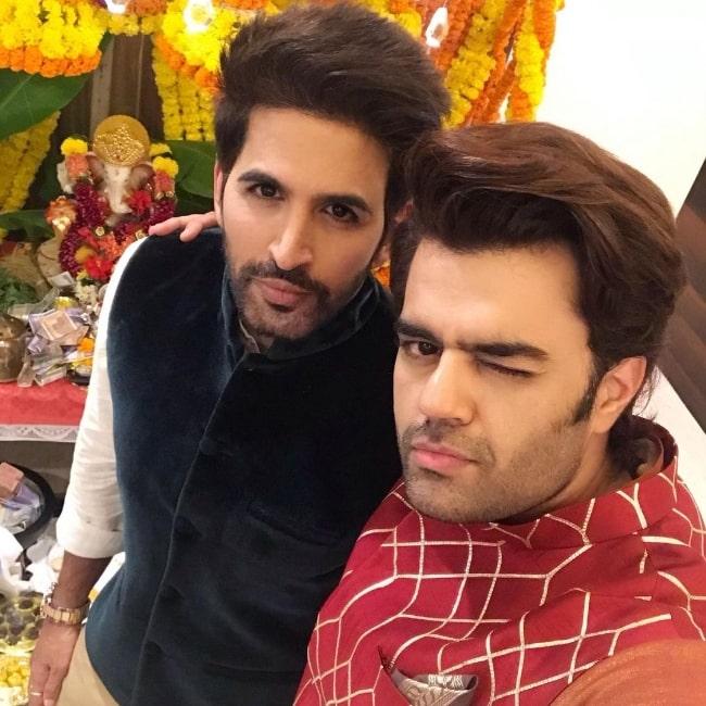 Vishal Kotian (Left) and Maniesh Paul in a selfie in September 2019