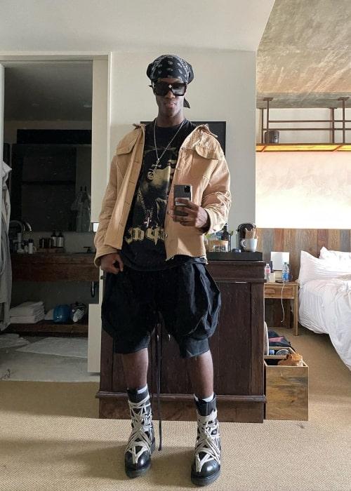 Wisdom Kaye in a selfie that was taken in Los Angeles, California in August 2021