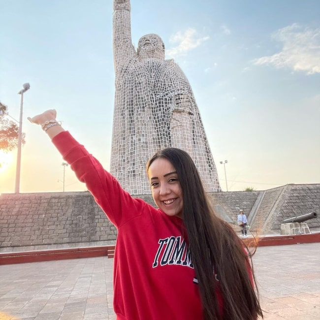 Yessica Rodriguez as seen in a picture that was taken during her trip to Janitzio, Michoacan De Ocampo in April 2021