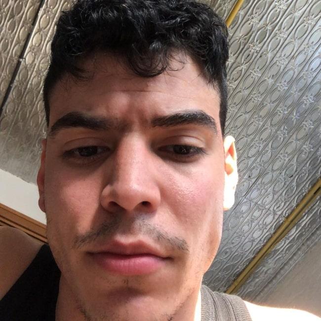 Aaron Dominguez sharing his selfie in May 2021