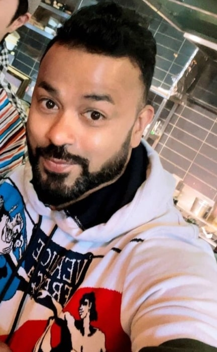 Abhishek Gupta sharing his selfie in March 2021