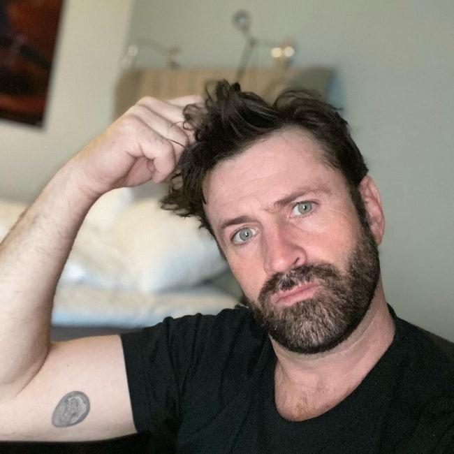 Adam Fergus as seen while taking a selfie during his hotel quarantine in Stavanger, Norway in October 2020