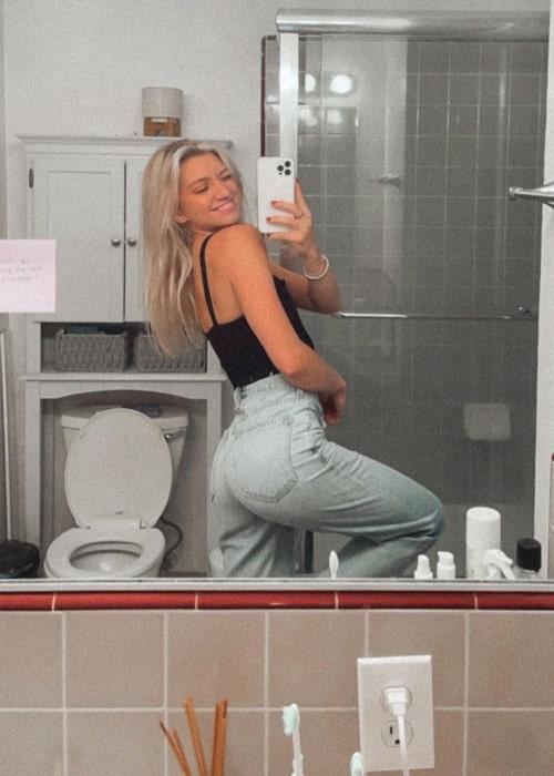 Anna Sitar as seen in a selfie that was taken in Los Angeles, California in September 2021