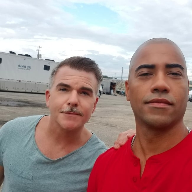 Brad James (Right) and Cullen Moss as seen in a selfie in August 2021