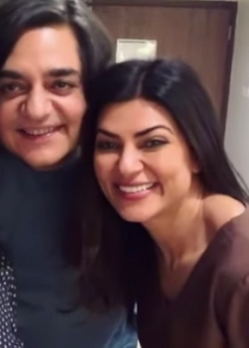 Chandrachur Singh as seen in a picture that was taken with actress Sushmita Sen in June 2020