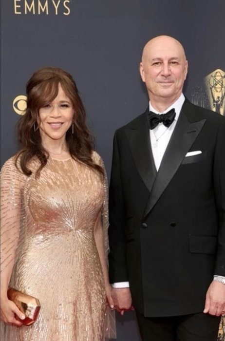 Eric Haze and Rosie Perez, as seen in September 2021