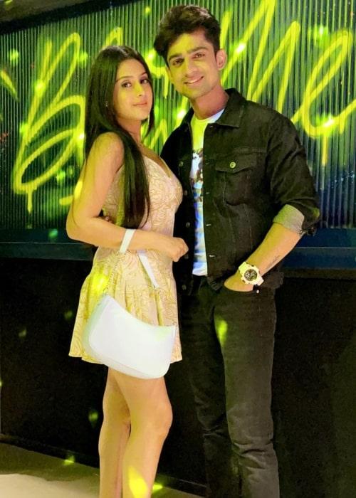 Isha Malviya as seen in a picture that was taken with her best friend Abhishek Kumar in July 2020