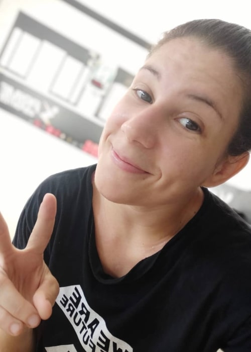 Karol Rosa as seen in a selfie that was taken in April 2020