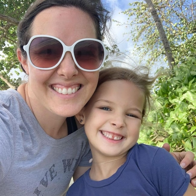 Laura Johnston as seen in a selfie with her mother Kendra in January 2021