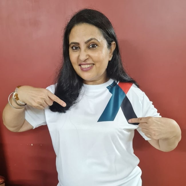Neelu Kohli as seen in a picture that was taken in August 2021