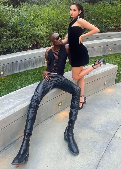 Rickey Thompson as seen in a picture that was taken with singer and songwriter Maggie Lindemann in August 2021