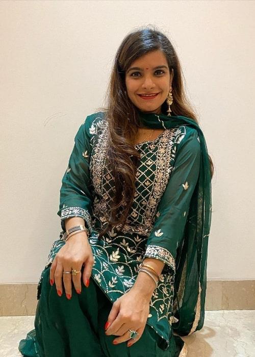 Tanya Wadhwa as seen while celebrating Diwali in New Delhi, India in November 2020