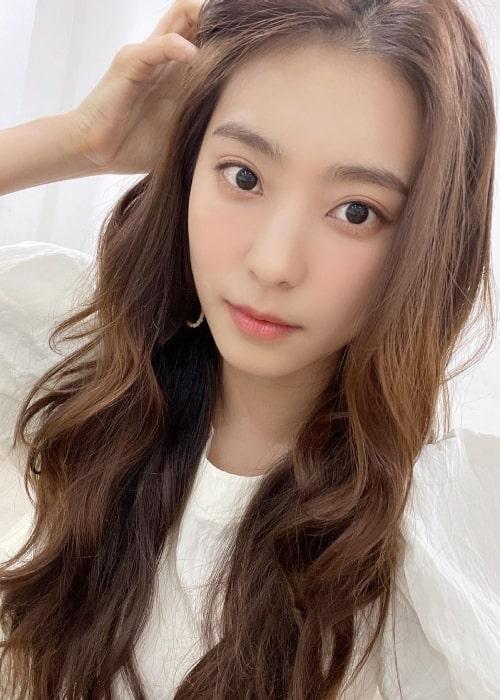Yoon Bo-ra as seen in a selfie that was taken in March 2021